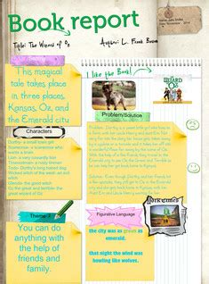 the wizard of oz book report glogster multimedia posters educational content