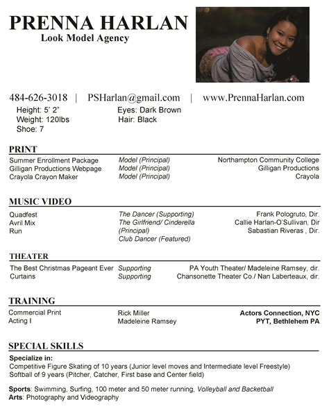 Model Resumes by Resume Prenna Harlan Model