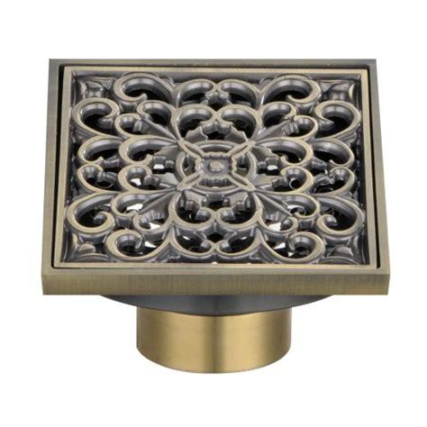 angle simple w102 brass square design tile in shower drain cover 10x10 cm new ebay