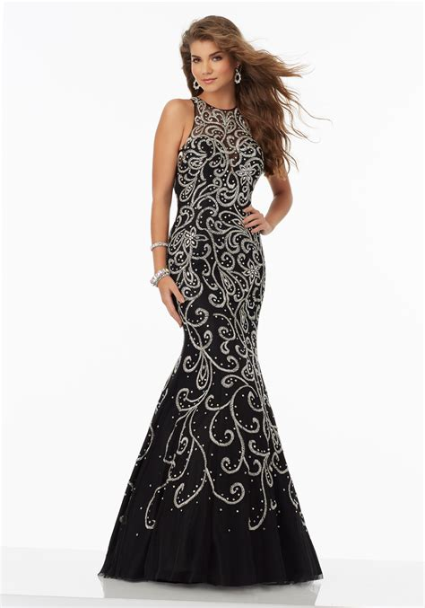 net pattern gown net sheath gown with an intricate all over sequin pattern