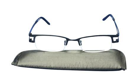 jak black stainless steel semi rimless reading glasses