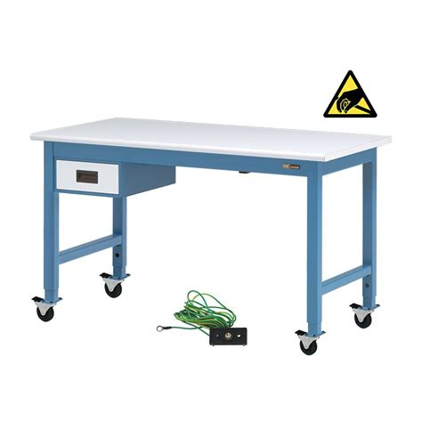iac benches iac mobile rolling steel workbench w 6 quot drawer equipmax