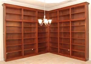 custom corner wall bookcase unit haus custom