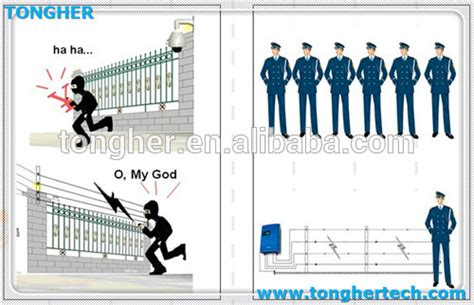 Home Security Electric Fence Tongher Brand Smart Alarm Electric Fence For Home Wall Top
