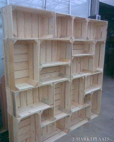diy idea shelf out of crates awesome way to have modern decor without sacrificing a kind of