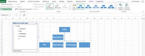 como criar layout no excel modelos de organogramas blog luz