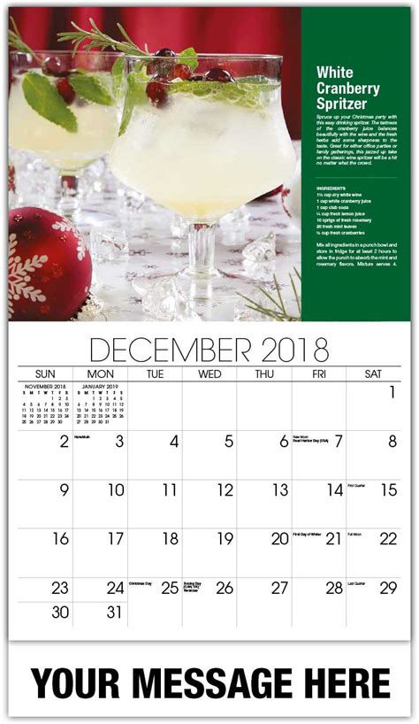 Promo Calendars Cocktail And Drink Recipes Calendar 65 162 Business