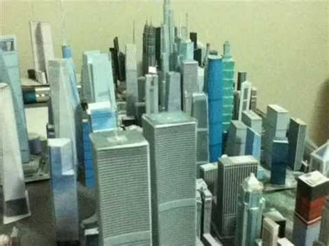 my new world trade center paper models youtube