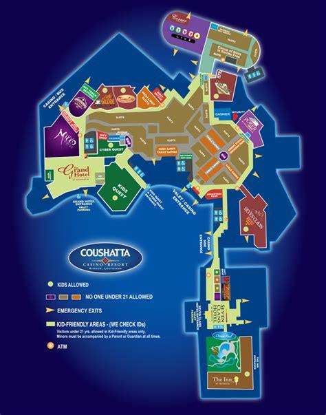 louisiana casinos map map of the resort coushatta casino resort