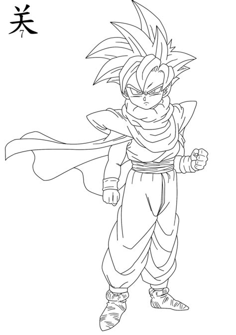 dragon ball z coloring pages gohan gohan coloring pages bing images