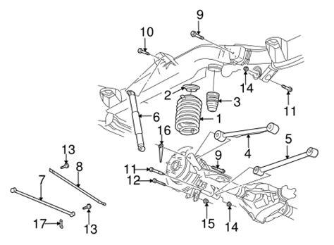 2003 chevy trailblazer parts diagram oem 2003 chevrolet trailblazer rear suspension parts