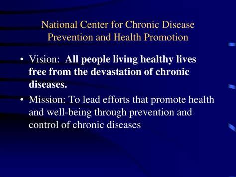Healthy Living Centers For Disease Control And Prevention | ppt federal overview for public health nutrition