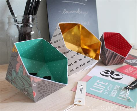 Folded Paper Bowl - the craft patch diy geometric bowls