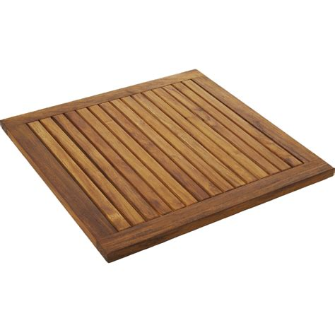 teak bath mat square in shower and bath mats