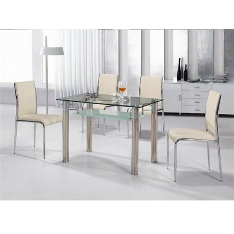 Glass Kitchen Tables And Chairs Glass Dining Table And Chair Sets 187 Gallery Dining