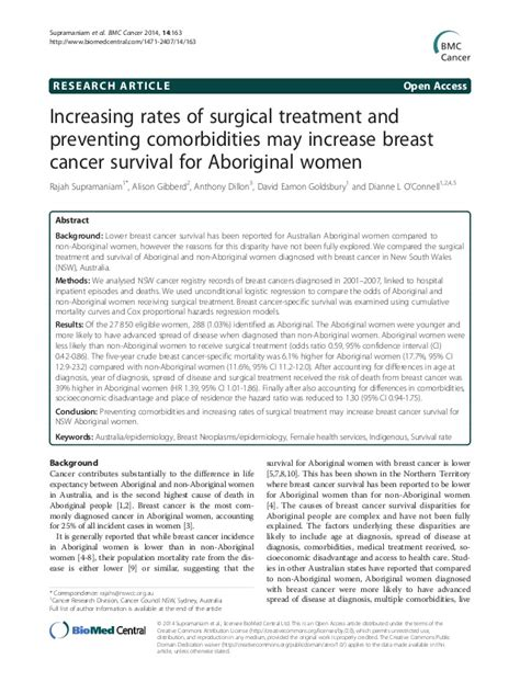research paper on cancer treatment aboriginal patterns of cancer care project breast cancer