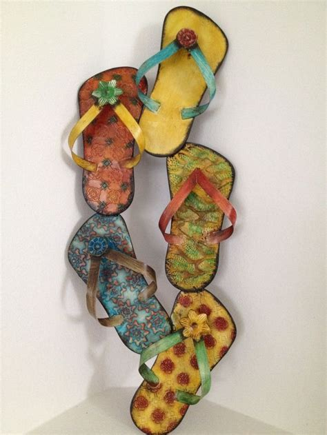 Flip Flop Wall Decor by New Flip Flop Sandals Metal Wall Decor Cottage