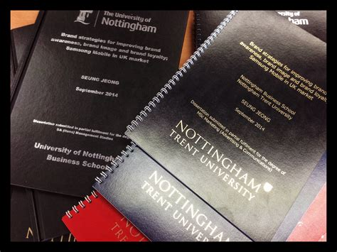 thesis binding nottingham digi foil printing for students updated 2015 e wright