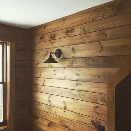 shiplap garage wall white pine shiplap paneling custom stained rustic ideas