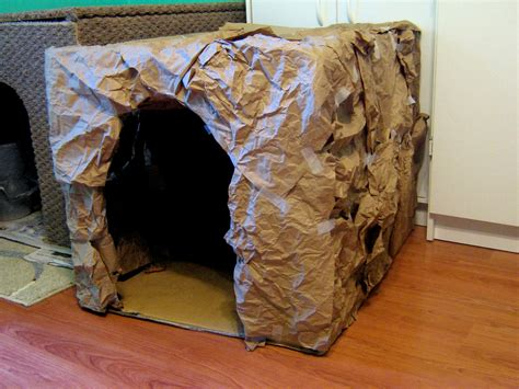 How To Make A Paper Mache Cave - make a cave
