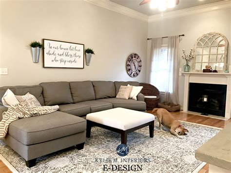 sherwin williams agreeable gray  living room  gray