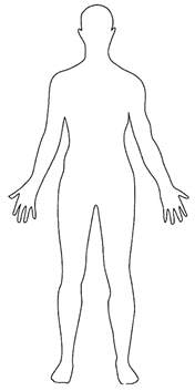 Outline Of A Human by Drawing Anica Lewis