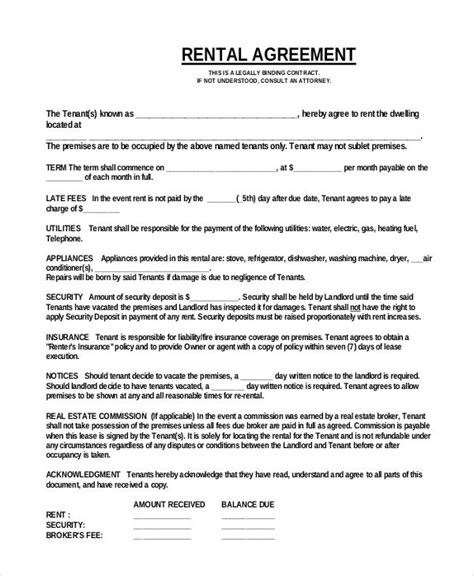 Simple One Page Commercial Rental Agreement Pdf Free Download Agreement In 2019 Rental Restaurant Lease Agreement Template Free
