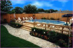 Above Ground Garden Ideas Cool Above Ground Pool Landscaping Successful Decision For Your Garden Pool