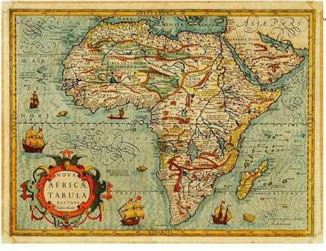 africa map vintage decorating with maps