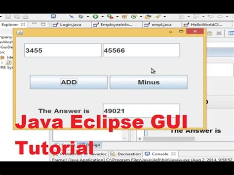 eclipse swing gui java eclipse gui tutorial 2 creating a simple calculator