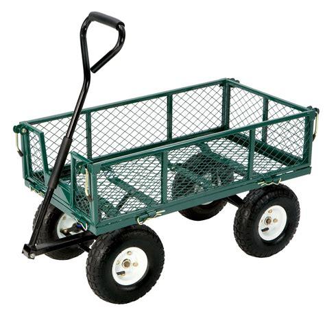tricam steel utility cart lawn garden outdoor tools