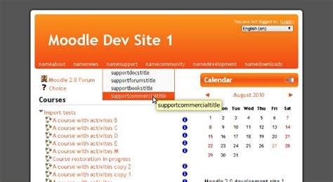 moodle theme binarius mdl 23188 implement custommenu where possible in core