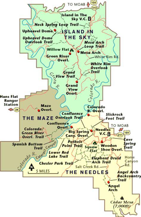 canyonlands national park map canyonlands national park map road trip