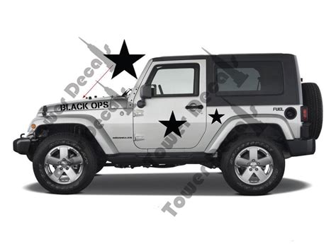 jeep wrangler military decals black ops military decal kit fits jeep wrangler rubicon