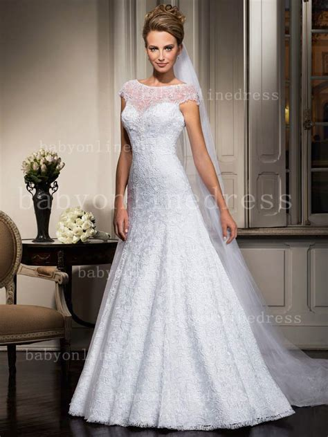 Floor Length Lace Dress by Wholesale Lace Wedding Dresses With Beadings 2018 Designer