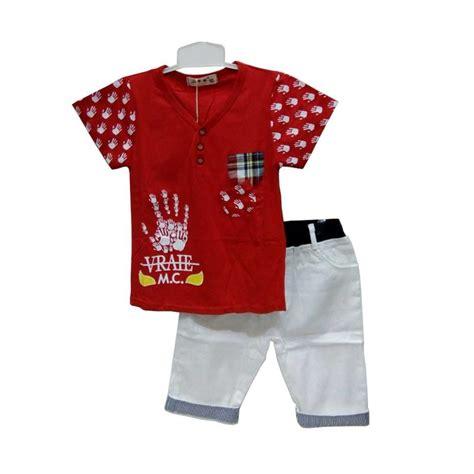 Setelan Stelan Tshirt Kaos Baju Anak Laki Robocar Poli Rp091217 jual import kid setelan baju anak laki laki