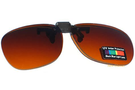 Lensa Blue Style 1 56 Blue Block Lens Limited blue block lens clip on flip up sunglasses for glasses