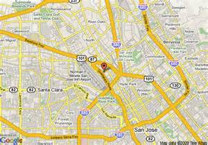 map of marriott hotels in california map of courtyard by marriott san jose airport san jose