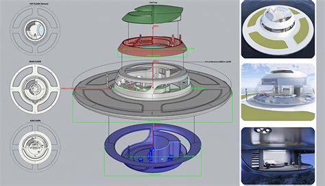 designboom jet capsule jet capsule updates u f o houseboat for open water