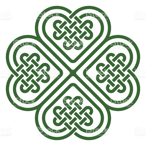 fourleaf clover shaped celtic knot stock vector art