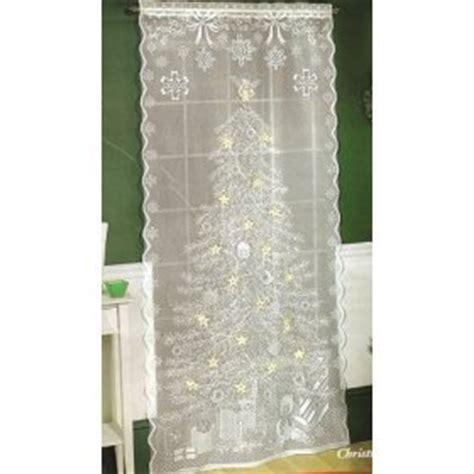 quaker lace curtains com quaker lace lighted christmas tree window