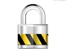 Silver padlock, security icon | PSDGraphics Lock