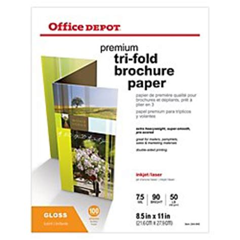 Tri Fold Brochure Paper - office depot sided presentation paper