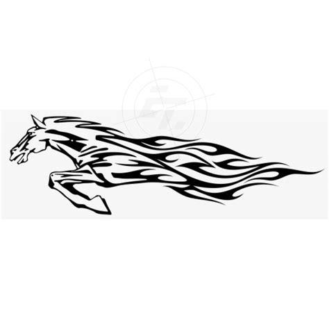 Aufkleber Flammen by Flammenaufkleber Springendes Pferd