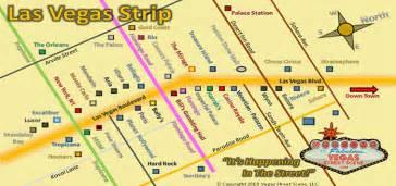 Las Vegas Map Strip by Las Vegas Strip Map Monorail Fremont Street Vegas