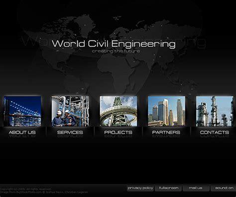 Dynamic Flash Website Templates Free Civil Engineering Dynamic Flash Template