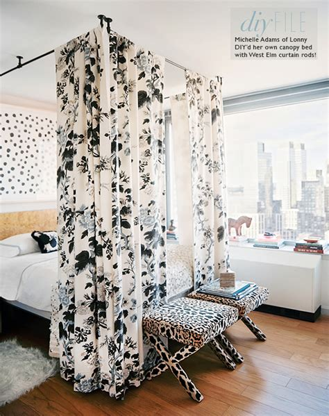 canopy bed curtain rods diy bunk bed curtains home decorating excellence