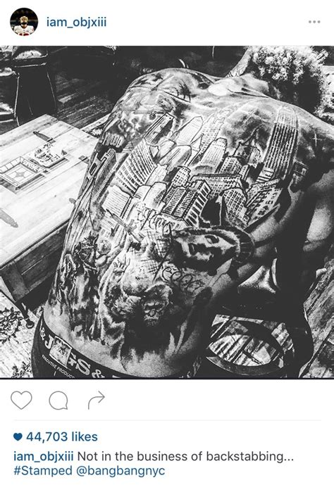 odell beckham jr s new back tattoo nygiants