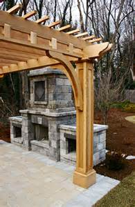 Custom Garage Designs post and bracket pergola no bp4 by trellis structures