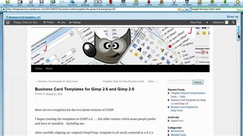Gimp Templates Business Cards by Ten Business Card Template For Gimp Tutorial Viral